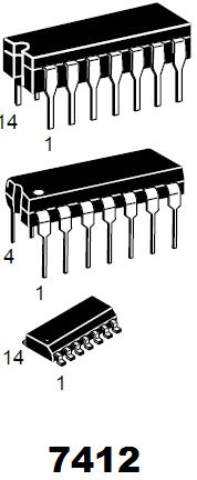 SOIC, DIP packages for the 7412 / 74LS12