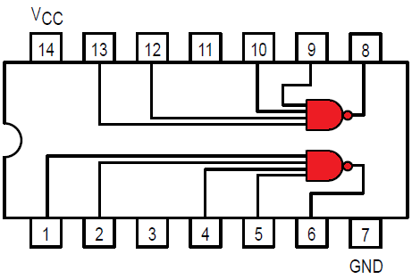 Logical Connections inside the 7420 IC
